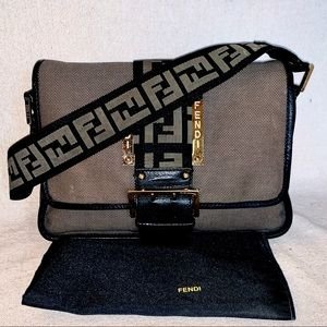 🔥VERY RARE!🔥 FENDI Borsa Tape Shoulder Bag